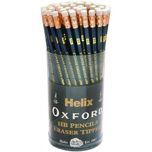 Helix Oxford Eraser Tip HB Pencils - Tub of 72