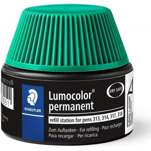 Staedtler Lumocolor Permanent Ink Refill - Green