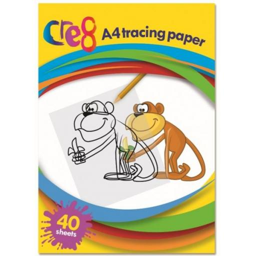 Cre8 - A4 Tracing Paper, Pack of 40 Sheets