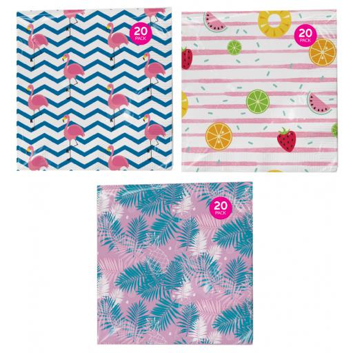 Summer Napkins 3ply - Pack of 20