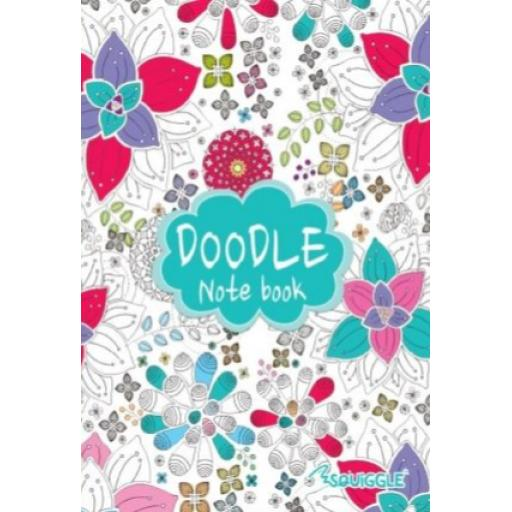 Squiggle A5 Lined Doodle Notebook - Green Cover
