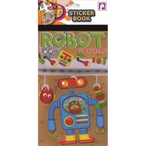 Pennine Sticker Book, 70 Stickers - Robot