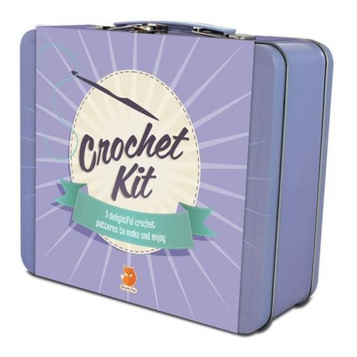 Smart Fox Crochet Kit in Tin