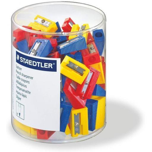 Staedtler Single Hole Plastic Sharpeners - Tub of 100