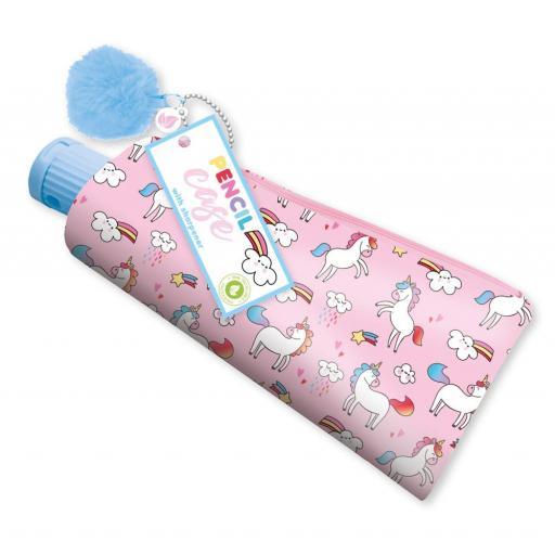 IGD Unicorn Toothpaste Tube Pencil Case & Sharpener