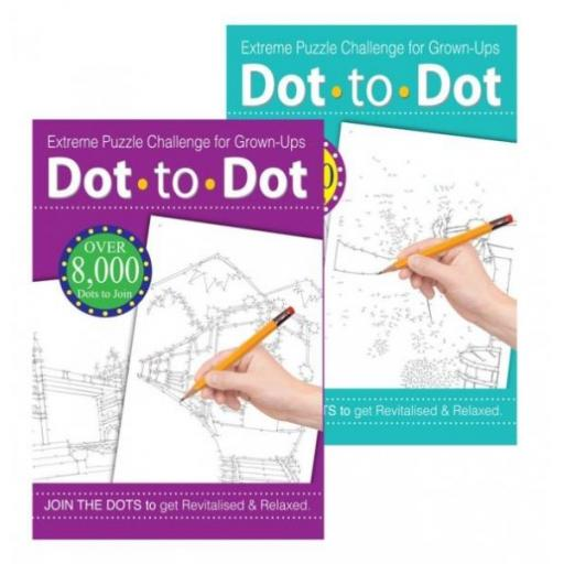 Squiggle A4 Adult Dot to Dot Books - Set of 2