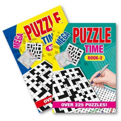 Squiggle A5 Mega Puzzle Time Books - Set of 2