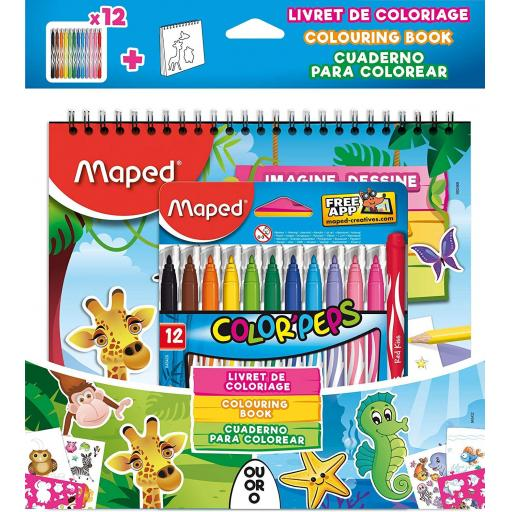 Maped Colorpeps Jungle or Ocean Colouring Activity Pack