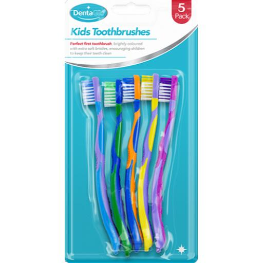 DentaGlo Childrens Toothbrushes - Pack of 5