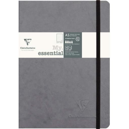 Clairefontaine My Essential A5 Dot Grid Notebook - Grey