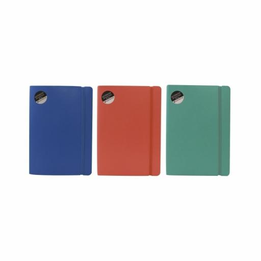 Easynote A5 Flexi Notebook - 200pg Assorted Colours