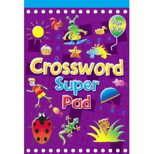 Brown Watson Age 7-10 A5 Crossword Super Pad