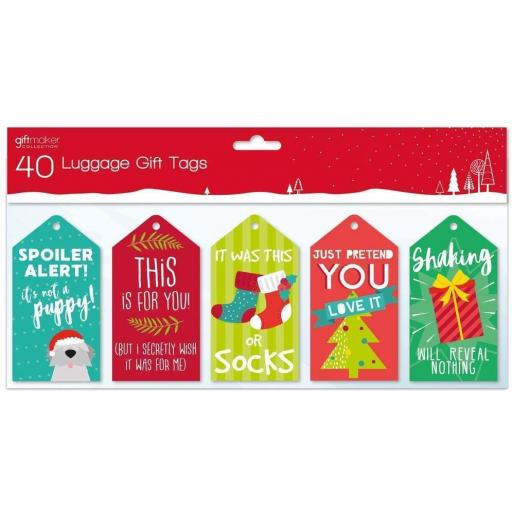 IGD Giftmaker Collection Luggage Gift Tags Honest - Pack of 40