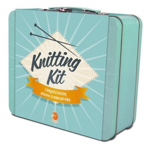 Smart Fox Knitting Kit in Tin