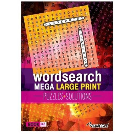 Squiggle Mega Large Print A4 Puzzles Glossy - Book 2