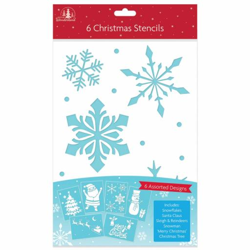 Festive Wonderland Christmas Stencils - Pack of 6