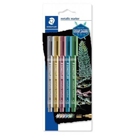 Staedtler Metallic Marker - Pack of 5