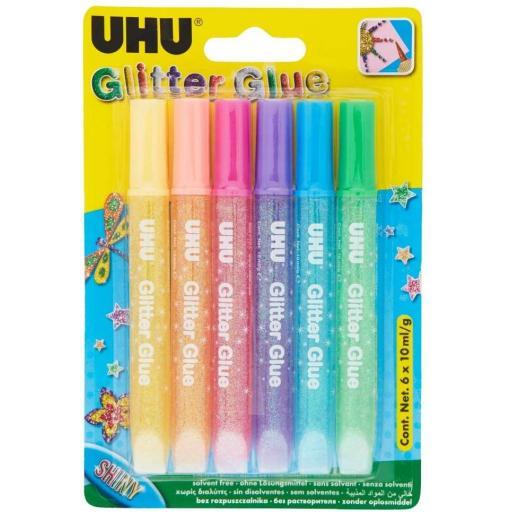 UHU Glitter Glue - Pack of 6