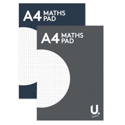 U. A4 Maths Pad - 80pg