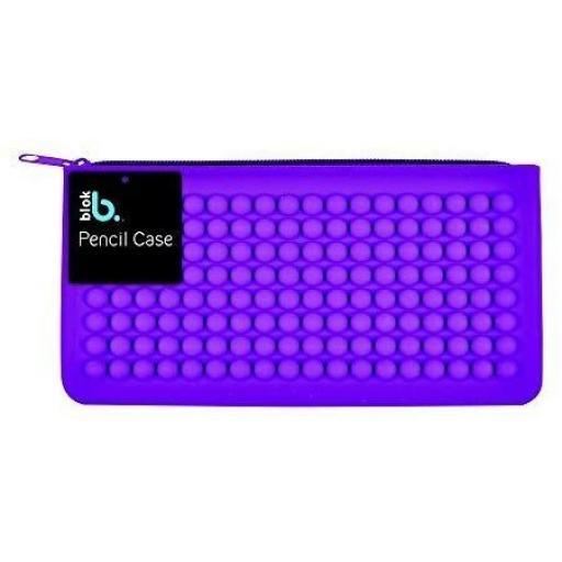 Bloc Silicone Pencil Case - Purple