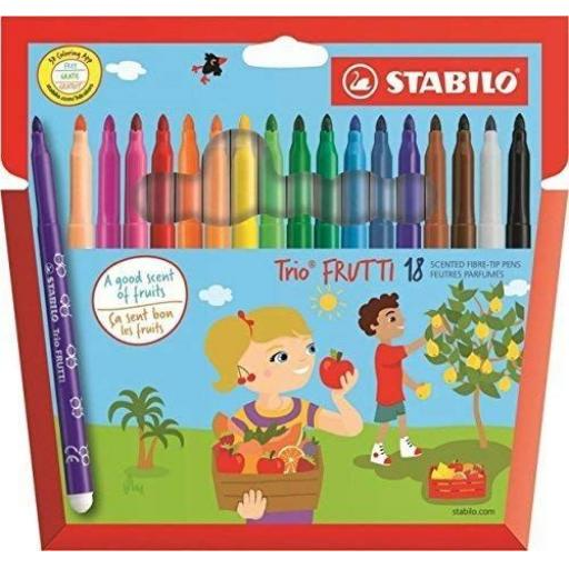 Stabilo Trio Frutti Fibre Tip Pens - Pack of 18