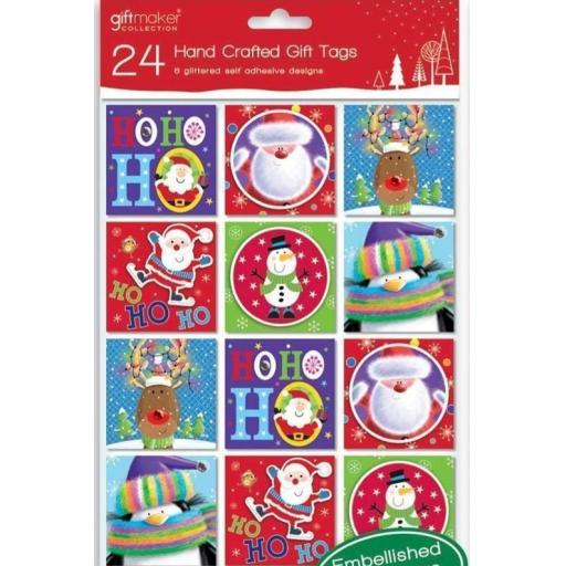 IGD Giftmaker Collection Handcrafted Gift Tags, Cute - Pack of 24