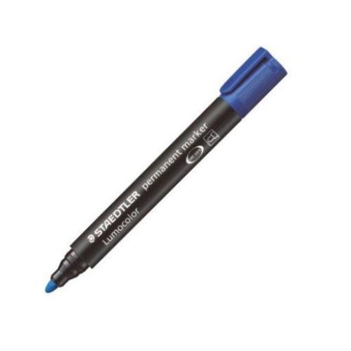 Staedtler Lumocolor Permanent Marker Bullet Tip - Blue