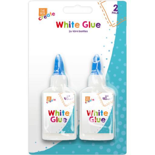 The Box White Glue 40ml Bottle - Pack of 2