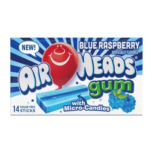 Airheads Sugar-Free Gum, Blue Raspberry - 14 Sticks