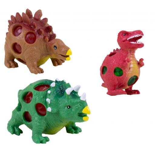Hoot Squishy Fidget Bead Dinosaur