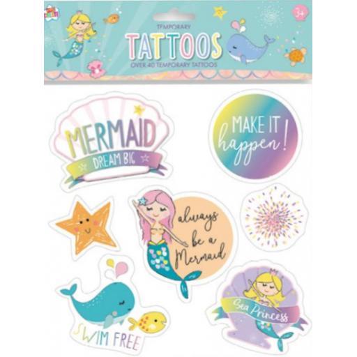 Kids Create Mermaid Temporary Tattoos - Pack of 40