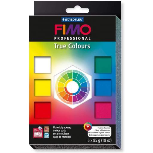 Staedtler Fimo Professional True Colours - 6 x 85g Block Set