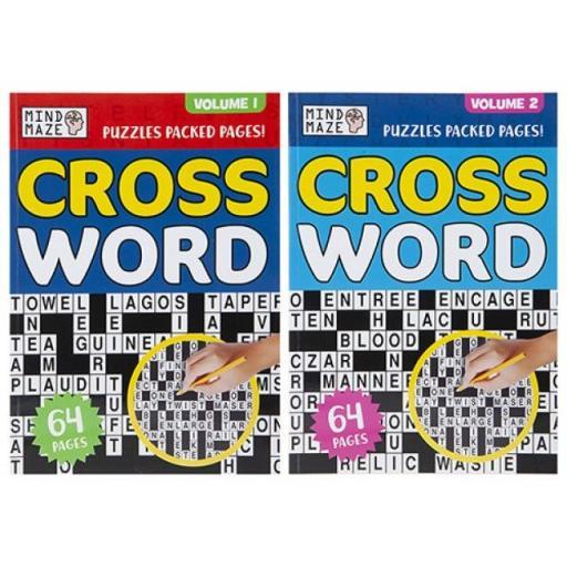PMS Mind Maze A4 Crossword Puzzle Books - Set of 2