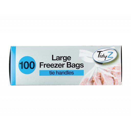 Tie Handle Food & Freezer Bags - Pack of 100