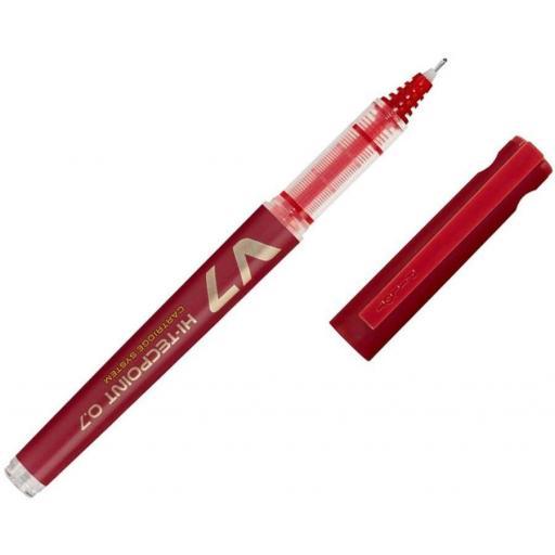 Pilot V7 Refillable Liquid Ink Rollerball Pen - Red