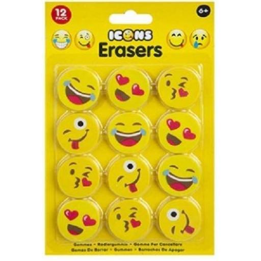 PMS Emoji Icon Erasers - Pack of 12