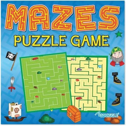 Squiggle Mazes Puzzle Game Book - 1 Random Design