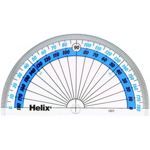 Helix 180 Degree Protractor - Pack of 10
