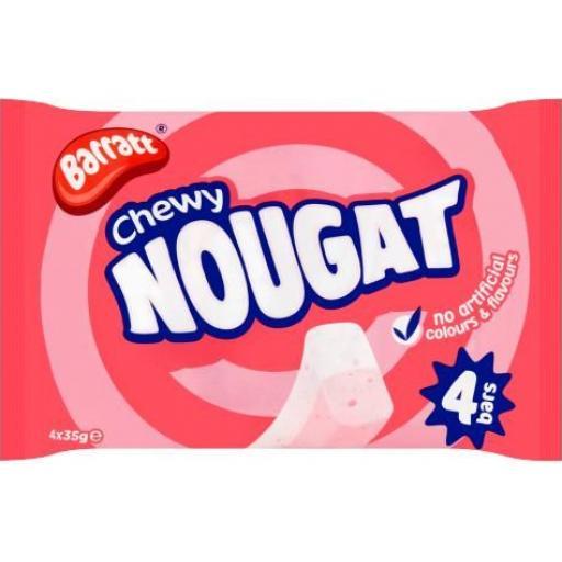 Barratt Chewy Nougat 35g Bar - Pack of 4