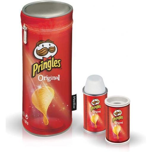 Pencil Case, Eraser & Sharpener Set - Pringles Red