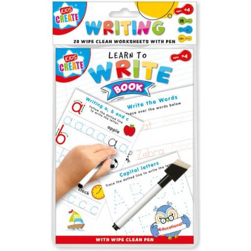 Kids Create A5 Wipe Clean Learning Book - Writing