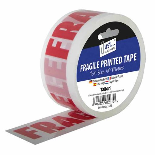 JS Fragile Tape 40 Metre Roll