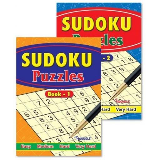 Squiggle A4 Sudoku Puzzle Book - 1 Random Book