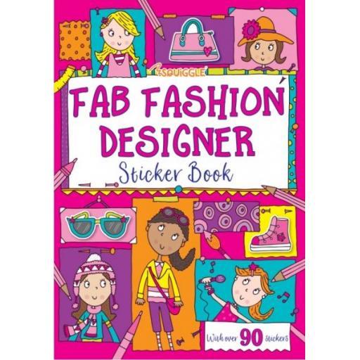 Squiggle A4 My Fab Fashion Designer Sticker Book