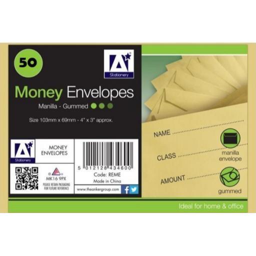 IGD Dinner Money Envelopes - Pack of 50