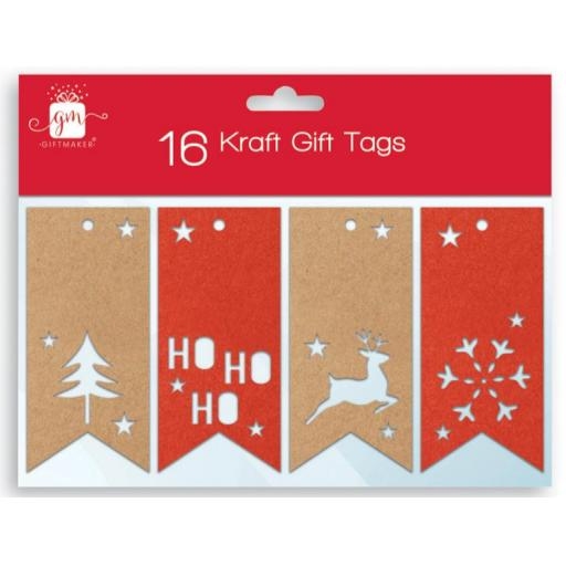IGD Giftmaker Collection Kraft Gift Tags - Pack of 16