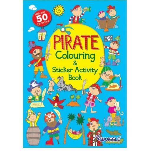 Squiggle A4 My Fun Colouring & Sticker Activity Book - Pirate