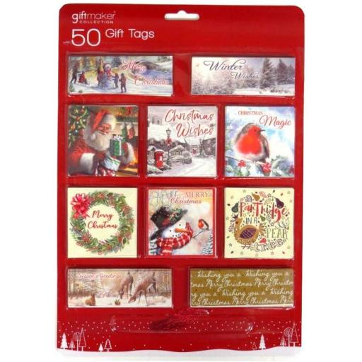 Giftmaker Traditional Gift Tags - Pack of 50