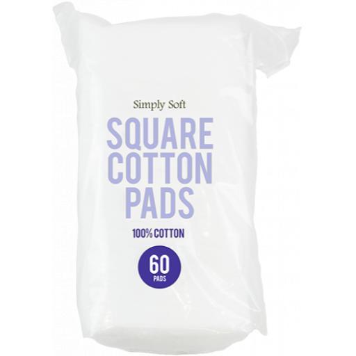 Gem Square Cotton Pads - Pack of 60