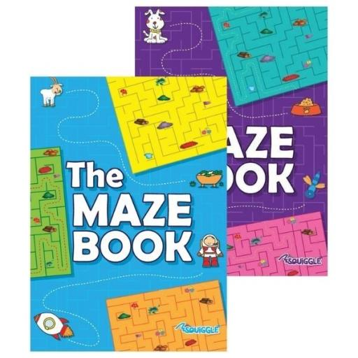 Squiggle A4 Maze Puzzle Books - Set of 2